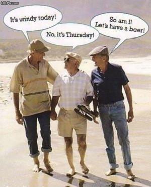 Old men hard of hearing