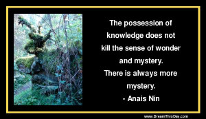 The possession of knowledge does not