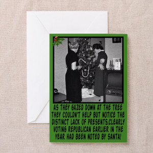 ... Republican Greeting Cards > Christmas greeting cards funny anti