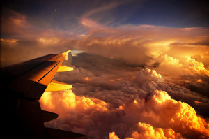 airplane, beautiful, clouds, fly, nature, orange, plane, sky, sunlight ...