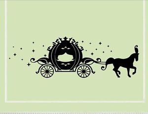 Cinderella-horse-drawn-carriage-Vinyl-wall-decals-quotes-sayings-words
