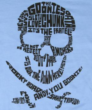 Goonies Quote Skull Logo T-Shirt l