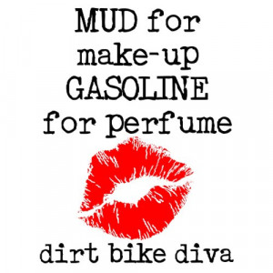 Mud Make-Up Dirt Bike Motocross T-Shirt from Zazzle.com