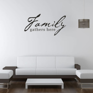 Family-Gathers-Here-Quote-Wall-Stickers-Wall-Art-Decal-Transfers