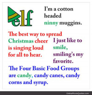 Quotes from the Christmas movie Elf starring Will Ferrell. Click here ...