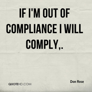 Funny Compliance Quotes