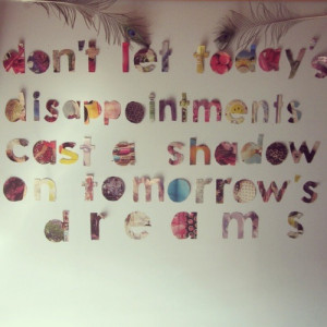sunday dreaming — handling disappointment