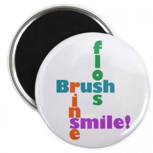 Dental Gifts > Imanes Dental > Imán Brush Floss Rinse Smile