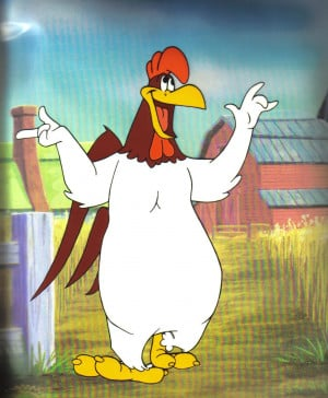 ... , and foghorn describes the character's piercing, monotonous voice