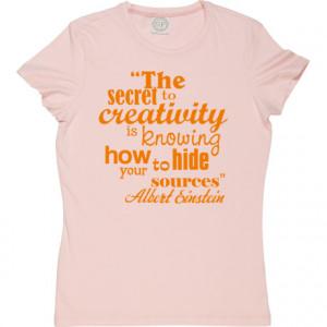 Albert Einstein Creativity Quote Baby Pink Women's T-Shirt. Dr. Albert ...