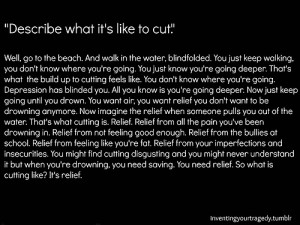life depression suicide tired self harm cutting dying not good enough ...