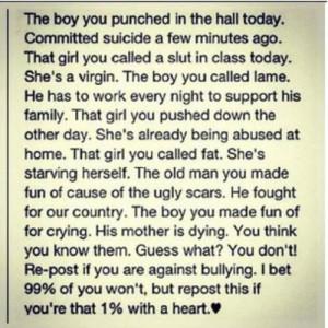 against bullying!!!
