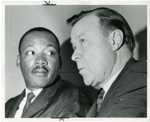 ... Martin Luther King, Jr. (shownwith labor union leader Walter Reuther