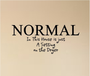 Crazy Is A Relative Term In The Family Normal In This House Is Just A ...