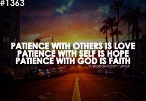 Patience is a virtue...