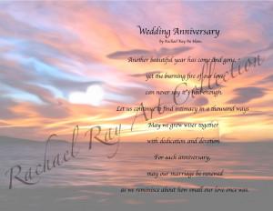 anniversary in heaven poems