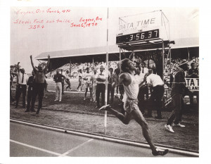 Steve Prefontaine's first sub 4 minute mile