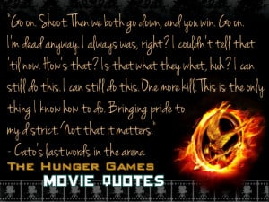 ... ago tagged as thg hunger games hunger games quotes cato thgf ca arena
