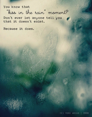 kiss in the rain, literary, love, love kiss moments, quotes
