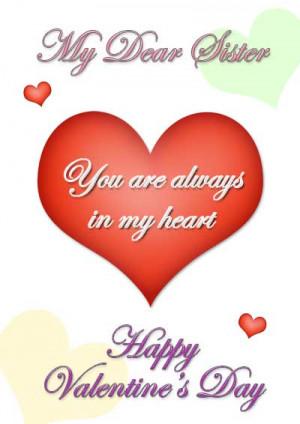 Happy Valentines Day Sister Valentine's day. click