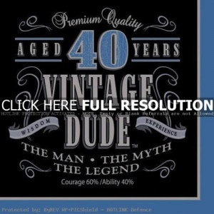 40th Birthday Quotes For Men Quotesgram