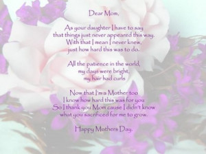 ... Sayings, Daughters Poems, Happy Birthday Cards, Mom Quotes, Mother'S