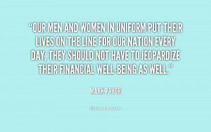 Men and Women in Uniform Quotes