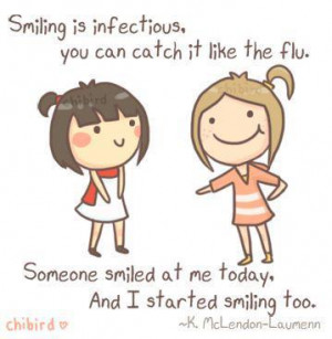 Happiness Quotes smile infectious catch flu