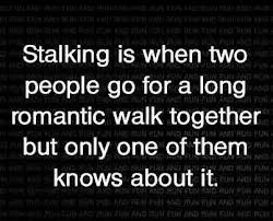 ... Stalking Awareness Month. If you want to learn more, go to