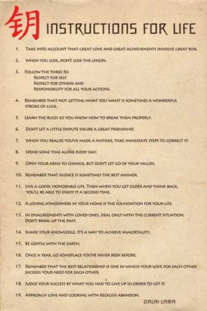 Dalai Lama : Instructions for life
