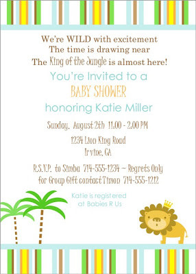 King of the Jungle ~ Baby Shower