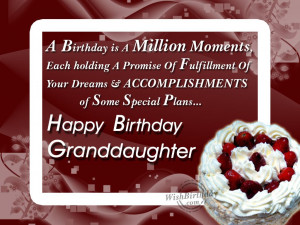 Wishing Happy Birthday To A Loving Grand daughter