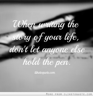 writing your life story Have you thought about writing your story, sharing life-altering events does your family really know about their heritage if you've ever thought.
