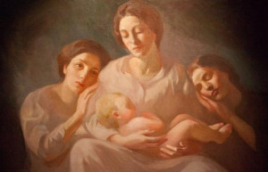 Kahlil Gibran''s Family painted by Khalil Gibran - great Realized soul ...