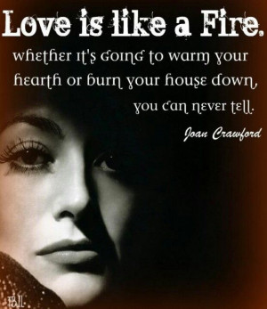 Joan Crawford quote on Love