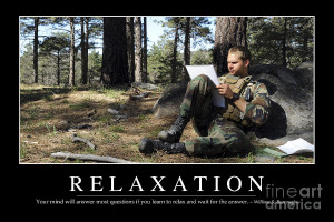 Relaxation Inspirational Quote Photograph