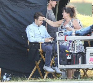 Katie Holmes and Ryan Reynolds on Set Katie Holmes