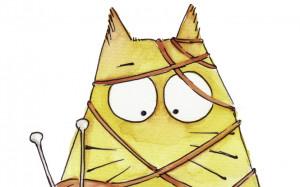 ... cats and knitting ;) - ball, cat, cute, funny, kawaii, knit, knitting
