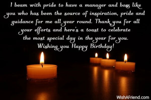 Birthday Quotes for Boss Professional