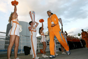 Basketball Player Candace Parker The Tennessee Volunteers Arrives