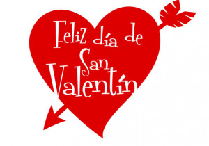 ... Valentine's Day in Spanish and te amo which is the Spanish translation