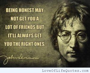 John Lennon quote on Honesty