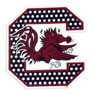 ... > South-Carolina-Gamecock-Block-C-Garnet-and-White-Polka-Dot-Decal