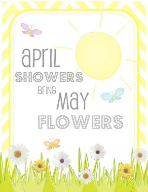 Back > Flowers For > April Showers Bring May Flowers Clip Art
