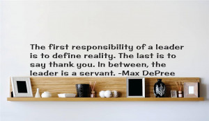 Details about Max DePree Leadership Quote | Inspirational Vinyl Wall ...