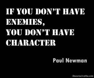 Aforismi Paul Newman Enemies