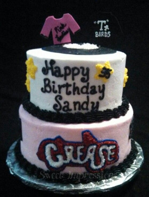 Grease Cake - Pink Ladies and T Birds557738 Pixel, Grease Cake