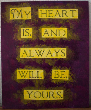 Sense and Sensibility quote painting - 9.5