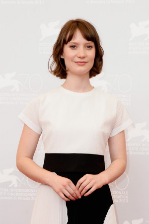 Actress Mia Wasikowska attends the 'Tracks' photocall during the 70th ...