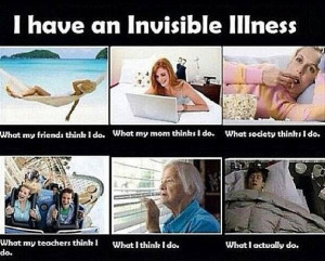 have an invisible illness chronic pain CRPS/RSD but my family knows ...
